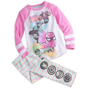 Marvel Set Pijama De Manga Larga Niña Talla 13 Disney Store