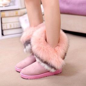 Botas Para El Frío Mujer Rosadas