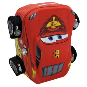 Mochila Escolar Kinder Rayo Mcqueen 3d Cars Mod: 93430
