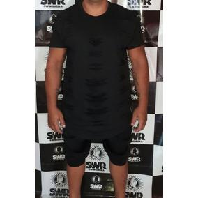 Camisa Oversized Masculina Swag Camiseta Longline Rasgada 0c37a85e60d