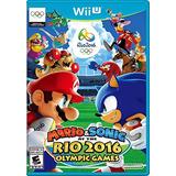 Videojuego Wii U Mario Sonic At Rio 2016 Olympic Standard