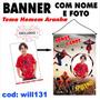 Banner Infantil Aniversário Nome E Foto Homem Aranha Will131
