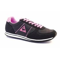 Zapatillas Le Coq Sportif Bolivar Nylon Lady Black Pink 7064