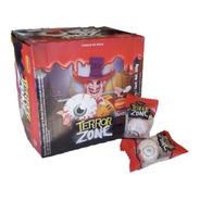 Chiclete De Bola Olhos Terror Zone Gigante Halloween 40 Pcs