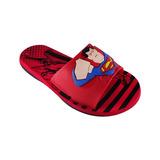 Chinelo Infantil Super Homem Slide Masculino Num 25 Ao 32