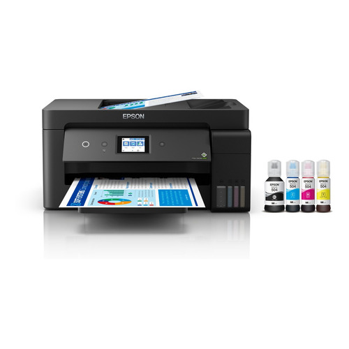 Impresora a color multifunción Epson EcoTank L14150 con wifi negra 220V