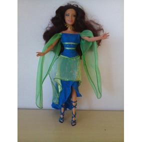 Linda Boneca Barbie Musa Azul