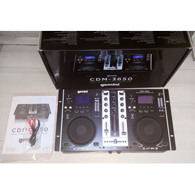 Mezclador Consola Display Gemini Cdm-3650 Mp3/cd Player Nuev