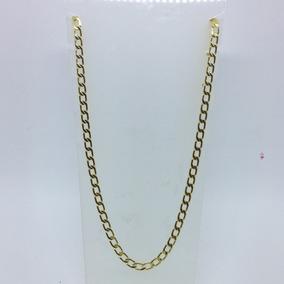 Cordão Masculino Folheada A Ouro 18k Grumet 60cm 6mm Grossa
