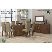 Conjunto Sala De Jantar 8 Cadeiras Pedra 1.3 Cor: Imbuia Sof