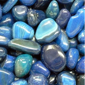 Ágata Azul 2-4cm Pedras Preciosas Brasileiras Polidas - 500g