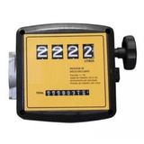 Medidor Mecânico Para Diesel 4 Dígitos 1 Pol Bsp 120l/min