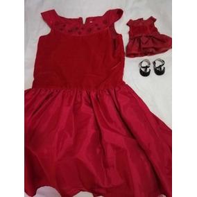 Vestido Para Niña, Vestido Y Zapatos Para Muñeca American G
