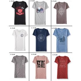 f0f8de66e1 Camisetas Femininas Blusas Aeropostale Bordadas M - Calçados