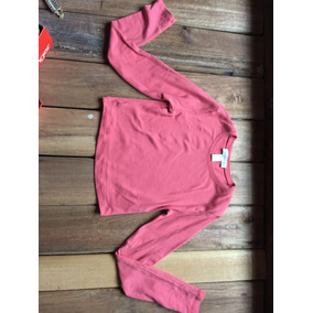 Crop Top Tipo Sweater Color Rosado Marca:forever 21 Talla S