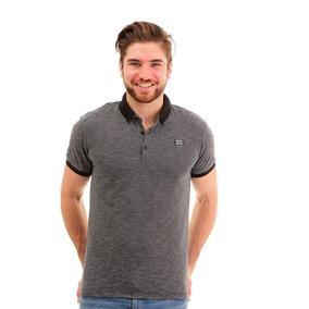 Camisa Polo Para Hombre Hang Ten Negra Estampada 0489227cefad1
