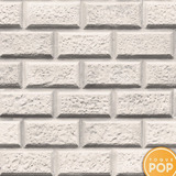 Papel De Parede Adesivo Tijolo Branco Artesanal Gesso 3d 10m