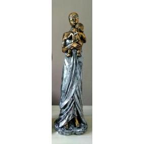 Negra Com Bebê (53cm) Estatua  Estatueta  Escultura  Enfeite ec1d0e15343