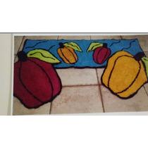 Jogo De Passadeira Cozinha 3 Peças Bordados Ibitinga Fruta