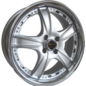 Kit 4 Llantas 17 Deportivas Speed Racing Dr15 4x108 Gris Dia