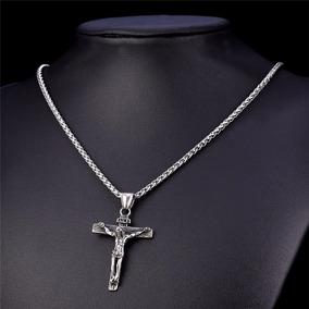 Cadena Y Cristo Plata Pura Exquisita Calidad 30 Micras Oro B