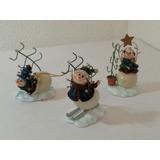 Muñecos Nieve Ceramica Juego 3 Pzadecoracion Home Interiors