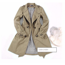 Piloto Impermeable Trench Unico Color Y Talle.**ver Medidas