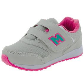 Tênis Infantil Feminino Gelo/pink Minipé - Mp1617