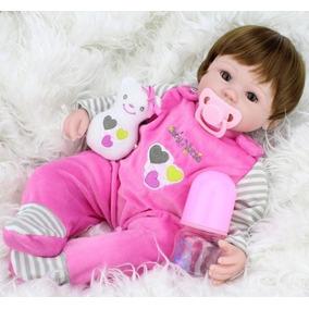 Boneca Realista Baby Nunes Com Chupeta/copo