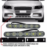 Par Barra Led Super Drl Besta Luz Diurna Cree Branco Fort