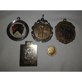 Lote De 5 Dijes Medallas Retro Ford Bici Tauro Moneda Antorc