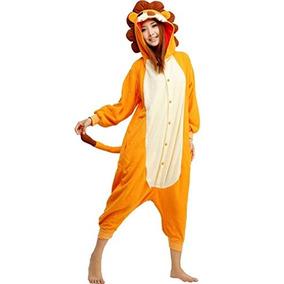 Wotogold Animal Cosplay Disfraz León Unisex Pijama Adulto,