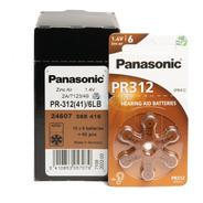 Pilas Panasonic Pr312 Audifonos 312 Caja 60 Pilas Marrones