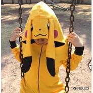 Kigurumi Pijama Niño Pikachu 8 A 10 Años - Envío Incluido