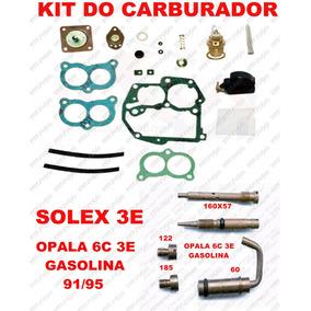 Kit Carburador Opala 6c 91/92 Gasolina Solex Duplo 3e