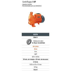 Oferta Bomba Centrifuga 1 Hp Marca Truper