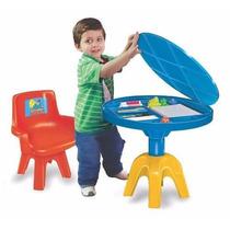 Conjunto Mesa Com Cadeira Infantil Galinha Pintadinha Lider