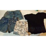 Lote De Verano Mujer Nena Short Jeans Polleras Remeras 22