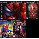 [ps2] Saga Spiderman Hombre Araña Para Play 2 (5 Juegos)