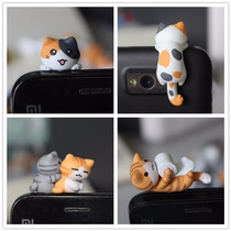 Gatito/perro Plug Antipolvo Celular Audífonos Varios Modelos