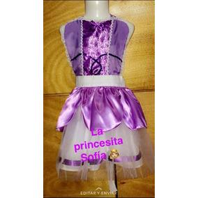 Disfraz Princesa Sofia Vestido Delantal Niña Tutu