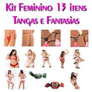 Kit 13 Itens Femininos Tangas E Fantasias Com Frete Grátis