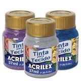 Pintura Para Tela Acrilex X 37ml Glitter Con Brillos
