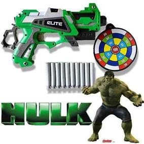 3 Armas Nerf Hulk Homem De Ferro Homem Aranha Vingador Dardo