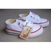 Kp3 Zapatos Converse Blancos All Star Para Niños 20 Al 25 !