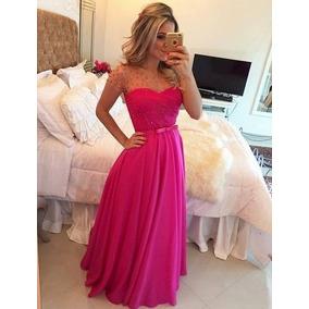 Vestido Fucsia Rosa Pink Mae De Noiva Madrinha Formatura