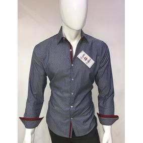 Camisa Casual Gris Con Mini Coches M/ L