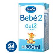 Sancor Bebe 2 Leche Líquida Nut. Comp. 500ml X 24 Unidades