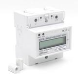 Medidor Monofasico De Energia Kwh 230v 40a Display Din Rail