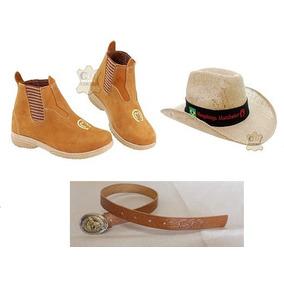Conjunto Infantil (cinto Cowboy + Bota + Chapéu Mangalarga)
